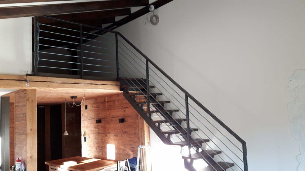 Mezzine floor, steel stairs