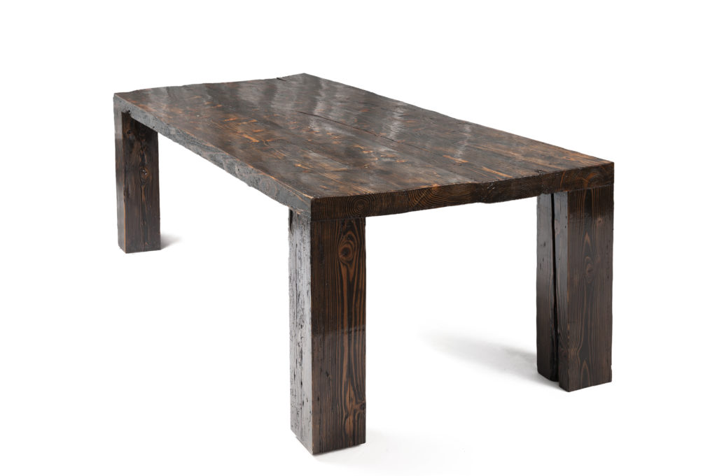 Reclaimed, Recycled solid wood table